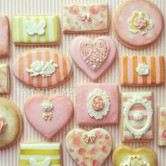Shabby Chic Decorated Cookies