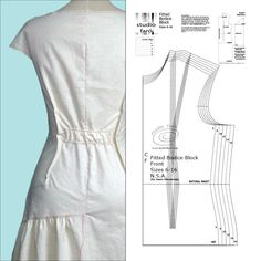 Develop your understanding of pattern making and the fitted dress block that is the starting point for nearly all the designs we wear. Learn to pattern make! Drape Dress Pattern, Dress Patterns, New Designer Dresses, Make Your Own Clothes, Block Dress, Pattern Drafting, Couture, Pattern Making, Simple Dresses