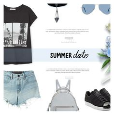"""""""Summer Date: The State Fair"""" by antemore-765 ❤ liked on Polyvore featuring T By Alexander Wang, adidas Originals, MANGO, Ray-Ban, Fendi, Child Of Wild, statefair and summerdate"""