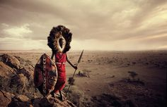 Young Maasai are famous for their jumping dance