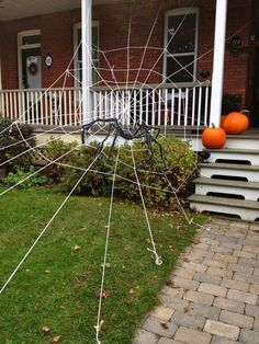 outdoor front house spider web