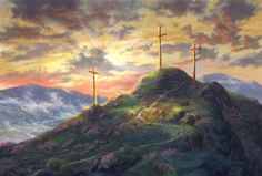 """Introducing """"Remember Me"""" from the Thomas Kinkade Vault Thomas Kinkade began painting, Remember Me: Amazing Grace I, during an Easter service in his home church. While his pastor preached about the work of Christ on the cross, Thom stood beside him and quietly brought his words to life on canvas. Thomas Kincade Inspirational art Remember Me"""