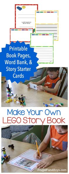 Make Your Own LEGO® Book Printable Pack - Kids can build LEGO story scenes, take photos, and compile their own story book with their LEGO creations as the illustrations! Love this creative writing idea.