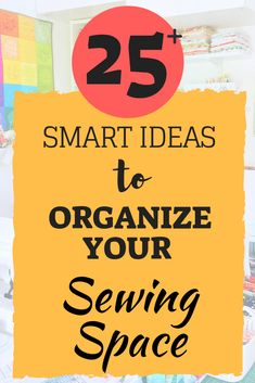 smart organizing ideas for your sewing room Organize sewing space - 25 ideas how to organize your sewing space, Check it out!Organize sewing space - 25 ideas how to organize your sewing space, Check it out! Sewing Room Design, Sewing Room Decor, Sewing Spaces, Sewing Room Organization, My Sewing Room, Sewing Studio, Organizing Ideas, Sewing Closet, Office Organization