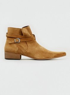 3039e96eac Max Tan Suede Buckle and Zip Boots Cuban Heel Boots