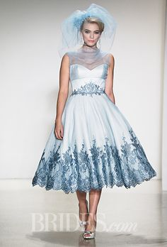 Brides.com: Plus-Size Wedding Dress Trends from Fall 2015 Bridal Runways%0AWedding dress by Matthew ChristopherPhoto: George Chinsee