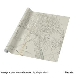 Vintage Map of White Plains NY (1921) Wrapping Paper