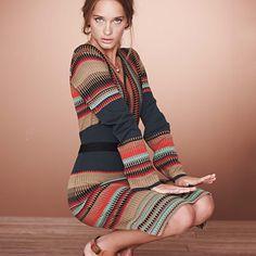 gemütliches, gestreiftes Kleid / cozy striped dress