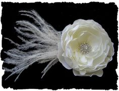 Listing Reserved for Jessica Beatty -- Julia Petite -- With Feathers via Etsy