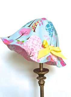 Girls Sun Hat Toddler Sun Hat Infant Sun Hat by 8thDayStudio