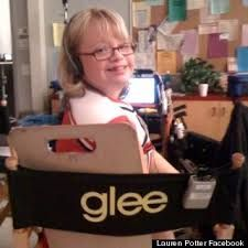 This week on Glee, the character Becky (who has Down Syndrome) took a gun to school because she was scared about life after high school. Read what the actress Lauren and her mom had to say about the episode. Glee, Lauren Potter, Life After High School, Photos On Facebook, School Shootings, Cory Monteith, Anti Bullying, Hallmark Channel, Down Syndrome