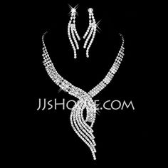 Gorgeous Alloy With Rhinestone Women's Jewelry Sets (011027615)
