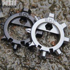 多機能ステンレス鋼edc toos 12機能ドライバーキーリングボトルオープナー自転車調整ツールEG-005