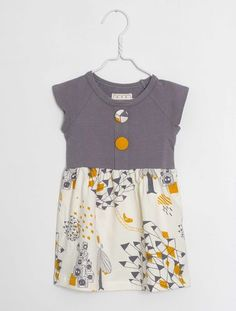 Papu - Nappikaupunki-dress | Pikkuotus -Children´s clothing