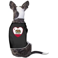 California Flag Heart Pajamas Sleepwear Dog Costumes Outfit Suitable For Lovely Small Dogs >>> Details can be found by clicking on the image. (This is an affiliate link) #DogApparelAccessories