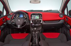 Renault Clio 4. My Baby. My Dream Car.  Isn't this just the best looking interior. THE RED!!!!