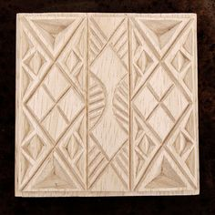 Carved Textile Stamp African Design Oshiwa Wood Printing by Oshiwa, $27.00