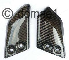 carbon fiber heel guards plates rider front Ducati Monster S2R S4R | eBay