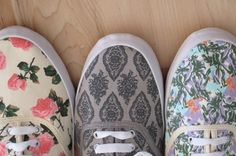 floral patterned vans