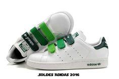 Adidas Stan Smith Enfant Velcro Degrade blanc et vert Adidas