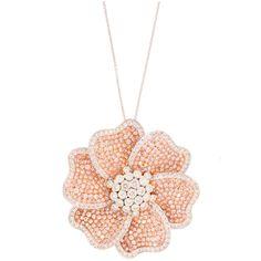 Fabulous Pink Diamond Necklace Pendant ❤ liked on Polyvore