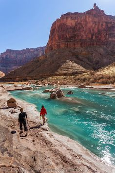 Aqua blue waters of the Little Colorado River, Grand Canyon National Park, Arizona