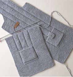 This Pin Was Discovered By Huz - Diy Crafts - Qoster Baby Boy Knitting Patterns, Knitting For Kids, Easy Knitting, Knitted Baby Cardigan, Baby Pullover, Diy Crafts Knitting, Kids Vest, Cotton Baby Blankets, Baby Sweaters