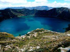 Laguna del Cráter del Quilotoa.