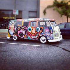 VW Campervan smily faces