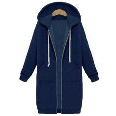 48682b60deaaa LASPERAL 2018 Spring Autumn Long Hooded Hoodie Women Oversized Casual Slim  Sweatshirt Coat Pocket Zip Up Outerwear Plus Size 5XL