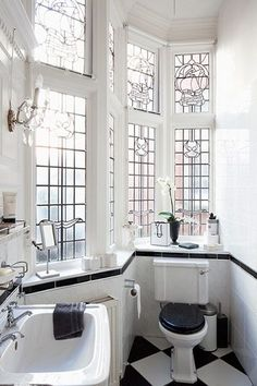 Regain Your Bathroom Privacy & Natural Light w/This Window Treatment ➤ http://CARLAASTON.com/designed/bathroom-privacy-translucent-window - INCREDIBLY BEAUTIFUL!! ♠️