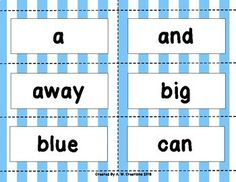 These are games students can play to practice Dolch sight words. Included are sets for Pre-Primer, Primer, First, Second, and Third. Directions: Each player takes turns picking a card. If you read the word card correctly, keep the card and it's the next player's turn.