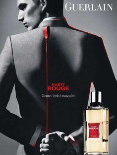 Parfum du Jour - Habit Rouge de Guerlain Moderne dans sa géométrie, rigoureux dans ses formes, Habit Rouge est une figure indémodable de l'élégance à la française.  Il crée la surprise dès son lancement avec ses effluves de vanille sensuelles et audacieuses. Oriental, tour à tour hespéridé, chaud et vanillé, il a le génie des contrastes et des émotions maitrisées. Eau de Parfum 1000ml: 216dt000  #Fatales #Fragrances #Guerlain