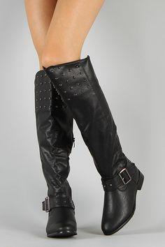 $40 Ramona Studded Riding Thigh High Boot