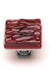Sietto Glass Cabinet Knobs Glacier Garnet Red