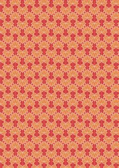 Minshan A119-2 Orange Lotus Flower Half metre Lewis & Irene Patchwork Quilting Fabric by MarilynsPatchwork on Etsy