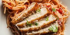 Receta Espagueti con pollo a la parmesana | Los Sabores de México y el mundo