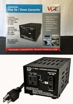 Heavy-Duty Voltage Converters: Japanese Step Up/Down Voltage 100/110V 500Watt Transformer Step Converter New BUY IT NOW ONLY: $48.92