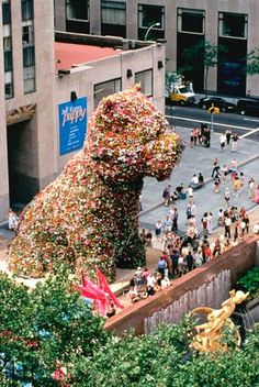 "Jeff Koons ""Puppy"" in NYC"
