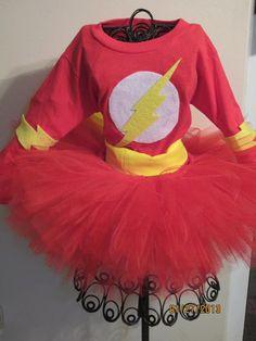 FLASH Inspired Girls Tutu Costume Set