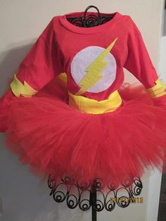 FLASH Inspired Girls Tutu Costume Set by SweetLaylaKays on Etsy, $40.00
