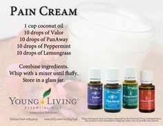 Young Living Essential Oils: Pain Cream Are you interested in learning more about Young Living Essential Oils? Do you want to join me and become a Lemon Dropper? Contact me: Kristen Arland; Member #2144717; kristen.arland@gmail.com
