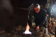 Balcksmith at work Blacksmithing, Finland, Iron, Outdoor Decor, Design, Blacksmith Shop, Blacksmith Forge, Wrought Iron