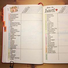 #Reise Planung in Form eines #Bullet #Journals.  #Notizbuch #Bujo