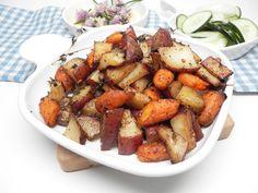 Balsamic-Roasted Vegetables Side Dish Recipes, Vegetable Recipes, Vegetarian Recipes, Cooking Recipes, Healthy Recipes, Pan Cooking, Roasted Vegetables, Veggies, Roasted Potatoes