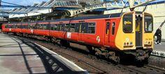 ScotRail/SPT Class 314 No. 314202 at Gourock. This was the last Class 314 unit in the original SPT orange/black livery. First Bus, Commuter Train, Blue Train, British Rail, Great British, Glasgow, Britain, Transportation, The Unit