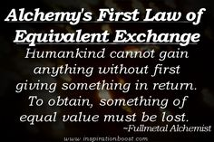 1000+ images about laws of equivalent exchange on ...