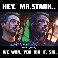 Hey mr stark you did itCredit Marvel Jokes, Marvel Funny, Marvel Dc Comics, Marvel Heroes, Iron Man Avengers, The Avengers, Avengers Movies, Infinito Marvel, Infinity War