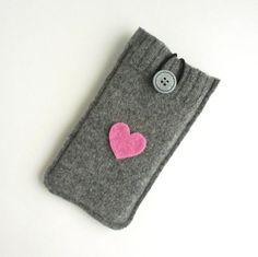 #shopsmallbiz #iPhone #Case 6  Samsung Galaxy S4 or S5  Wool Sleeve / by TrendyEarth