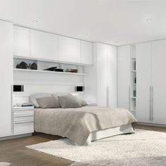 The best design selection for contemporary rugs Bedroom Built In Wardrobe, Bedroom Built Ins, Fitted Bedroom Furniture, Fitted Bedrooms, Bedroom Closet Design, Bedroom Storage, Home Bedroom, Bedroom Wall, Master Bedroom